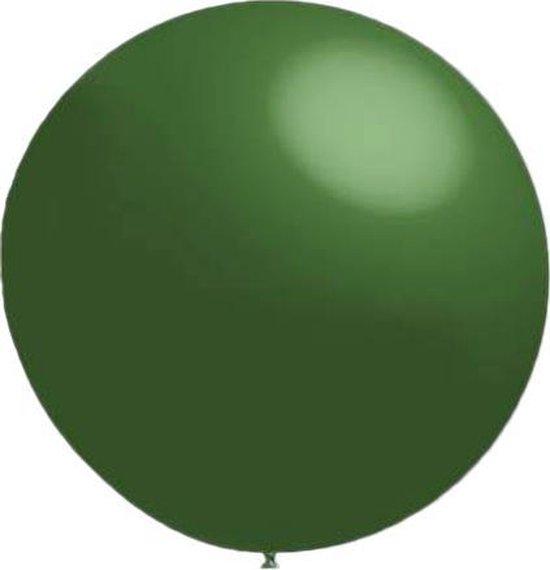 100 stuks - Decoratieballonnen donker groen 28 cm pastel professionele kwaliteit
