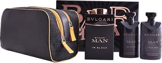 Bvlgari Man in Black - Geschenkset - Eau de parfum 100ml + Showergel 75 ml + Aftershave 75 ml - Bvlgari