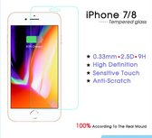 Screen Protector / Tempered Glass  - Extra gehard Japans glas 2.5 D – iPhone 7/8- TRANSPARANT