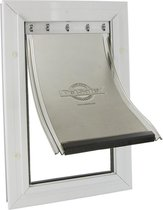 Staywell 640 Hondenluik - Tot 45 kg - Aluminium - Wit