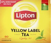 Lipton Yellow Label Thee -  6 x 50 theezakjes