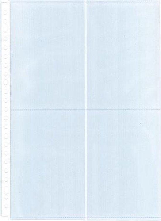 Fototassen A4 vertikaal 10x15 2/4/23R PP 120mµ (10st)