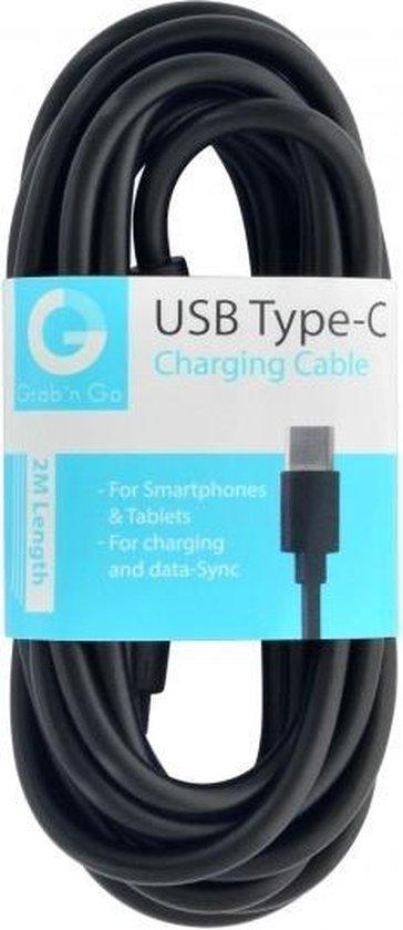 GnG Grab n Go USB-C Kabel 2 Meter Zwart