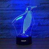 Hewec® Optische 3D illusie lamp Pinguin