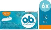 o.b. Tampons ProComfort Super 16 stuks 6-pack