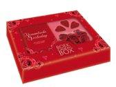 Romantische verleiding  (Boek-cadeaubox) + kaarsjes/bloemetjes