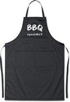 BBQ Specialist - Luxe Schort Keukenschort met tekst - Zwart
