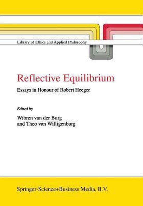 Boek cover Reflective Equilibrium van Wibren van der Burg (Paperback)
