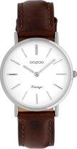 OOZOO Vintage Bruin/Wit horloge  (32 mm) - Bruin