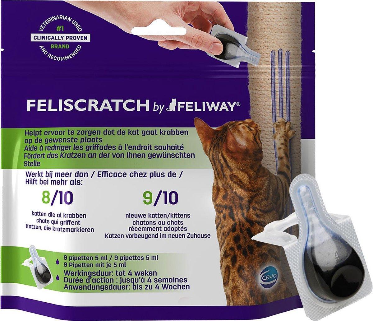 Feliway Feliscratch - Antistress Kat - 9 Pipetten - Feliway