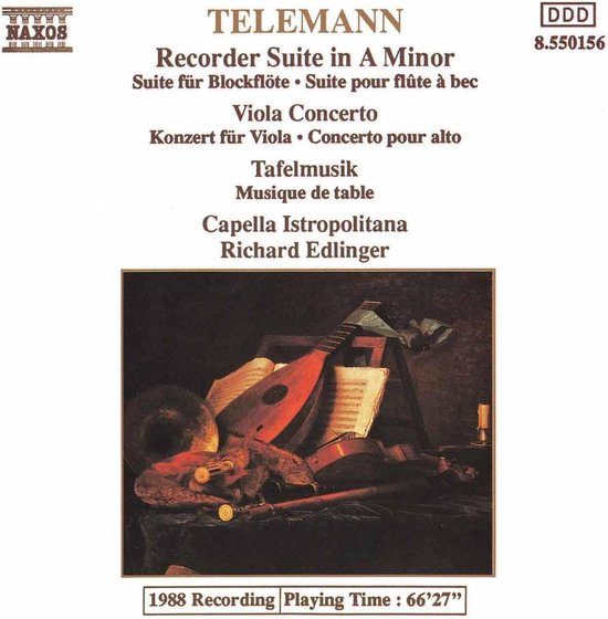 Telemann: Recorder Suite Etc.
