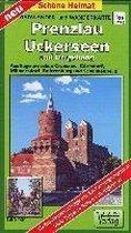 Radwander- und Wanderkarte Prenzlau, Uckerseen und Umgebung 1:50000