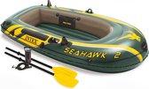 Intex Opblaasboot Seahawk 2 Tweepersoons Groen 236