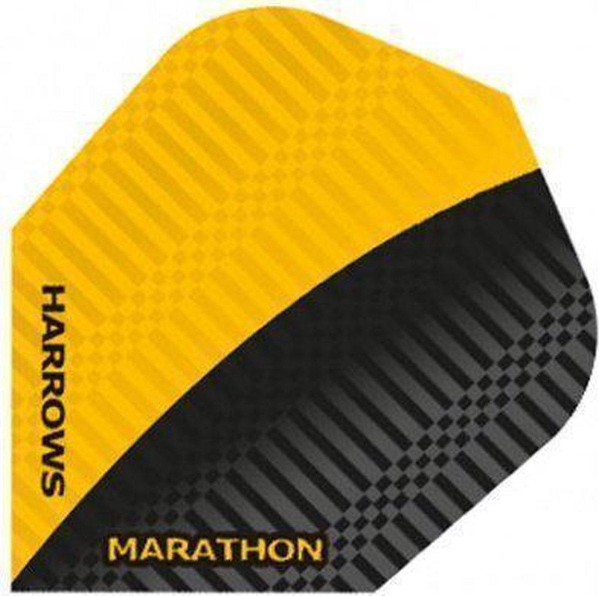Harrows darts Flight 1524 marathon zwart geel 3 stuks