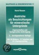 Anstriche als Beschichtungen für mineralische Untergründe