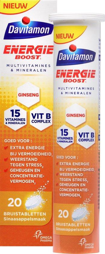 Davitamon Energie Boost Bruistabletten- Vitamine en Mineralen - 20 stuks