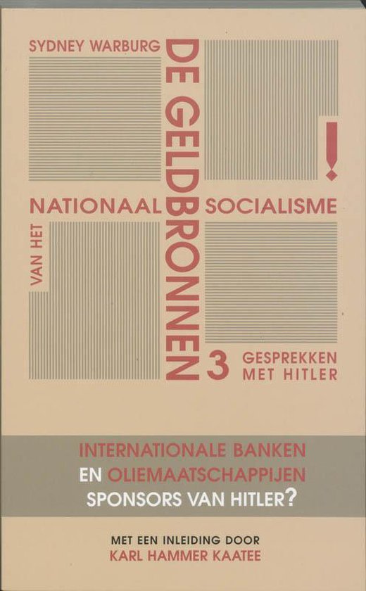 De geldbronnen van het nationaal socialisme - S. Warburg |