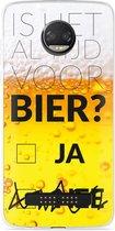 Motorola Z2 Force Hoesje Is het al tijd voor bier?