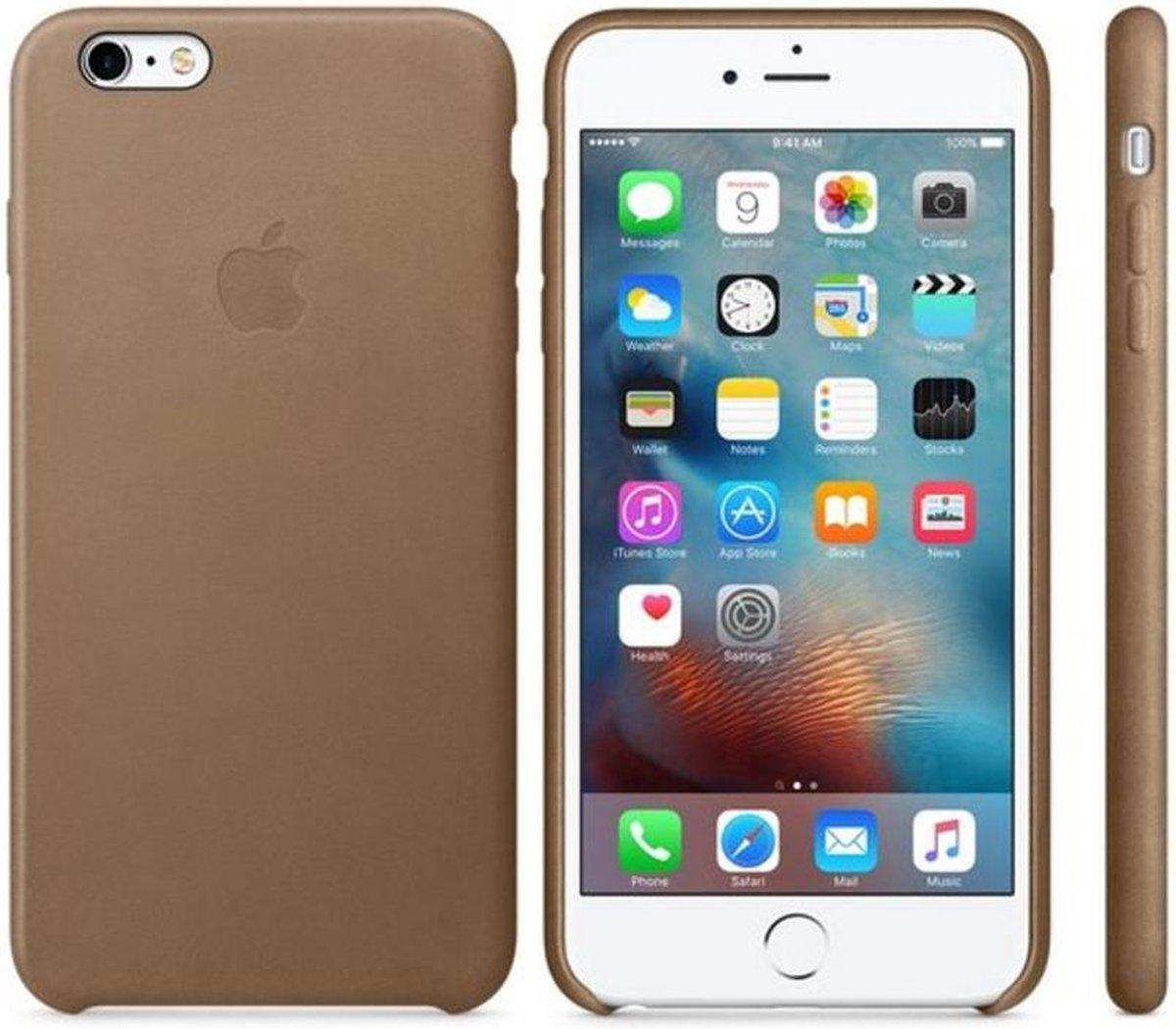 Apple Leren Hoesje voor iPhone 6 Plus / 6s Plus - Bruin