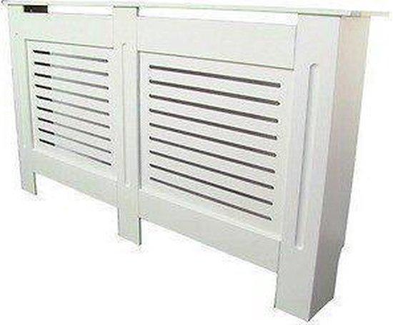 Radiatoromkasting | Radiatorombouw - 152 x 81,5 cm -  Wit geverfd