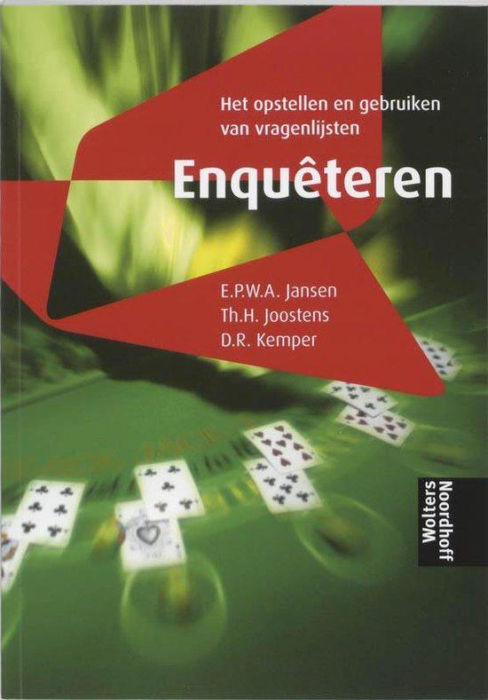 Enqueteren - E.P.W.A. Jansen  