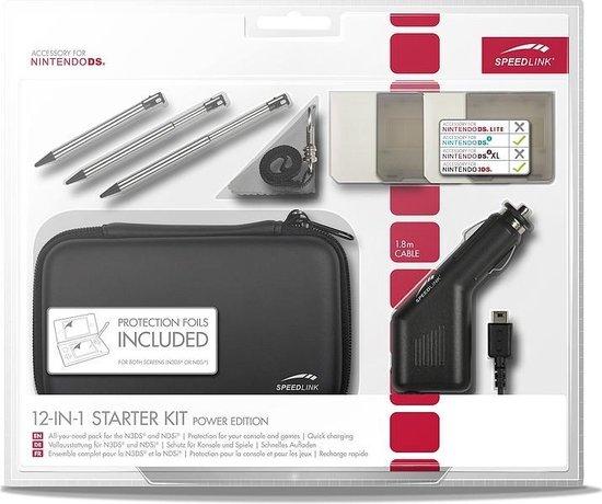 Speedlink 12-in-1 accessoirepakket zwart 3ds + dsi
