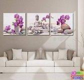 "Diamond Painting ""JobaStores®"" Buddha Orchidee - volledig - 60x20cm"
