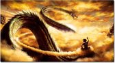 Goku op Nimbus & Draak Shenron 107 x 60 cm Canvas poster