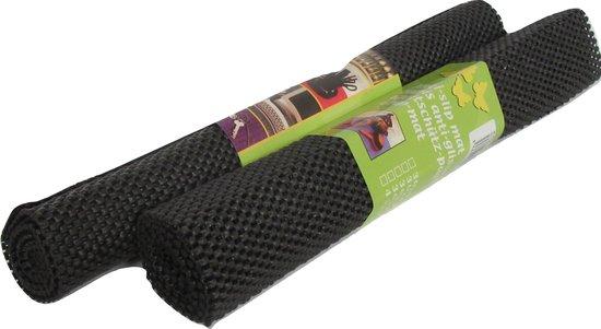 Antislip mat zwart op rol - 38 x 92 cm - 2 stuks
