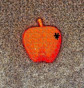 Foto op Canvas, The Missing piece of Apple (80x80cm)
