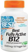 Best volledig actieve vitamine B12, 1500 mcg (60 Veggie Caps) - Doctor's Best