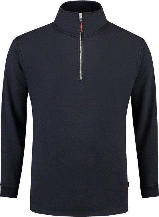 Tricorp Sweater ritskraag - Casual - 301010 - Navy - maat XL