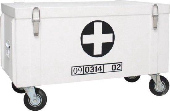 Goede bol.com | Hkliving Kist op wielen - Wit JH-94
