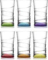 Lav Gekleurde Longdrinkglazen - 31 cl - 6 stuks