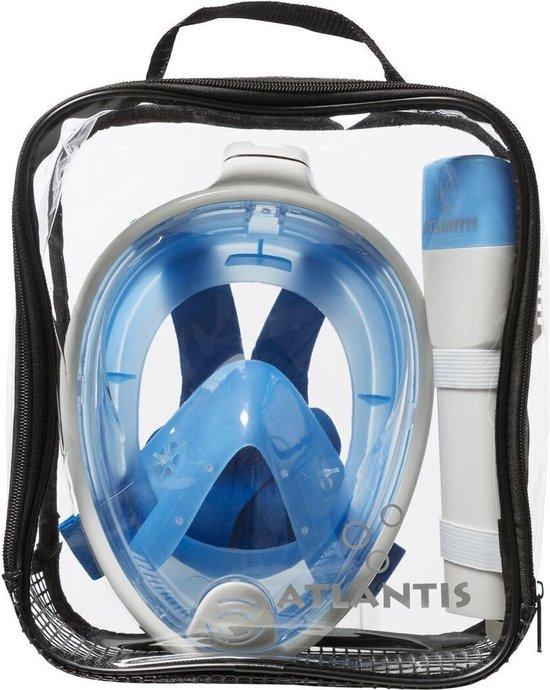 Atlantis Full Face Mask - Snorkelmasker - S/M - Wit/Blauw - Atlantis