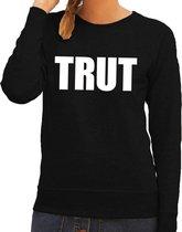 Trut tekst sweater / trui zwart voor dames L