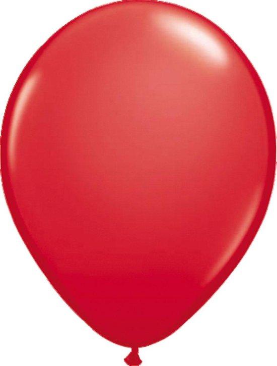 Rode metallic ballonnen 30cm 100 stuks