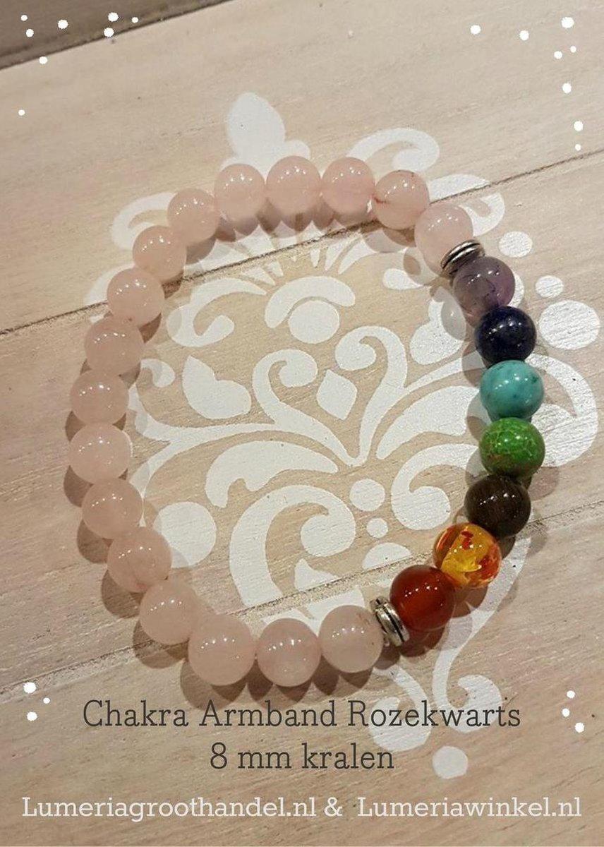 Chakra armband  Rozekwarts - Lumeria