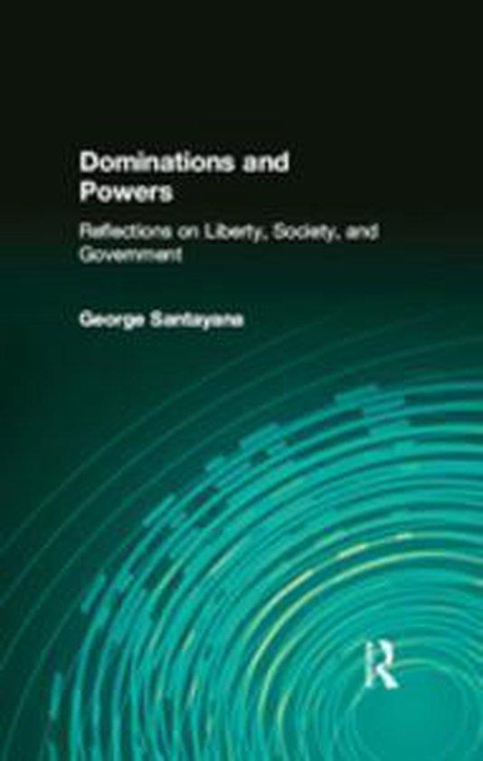 Boek cover Dominations and Powers van George Santayana (Onbekend)