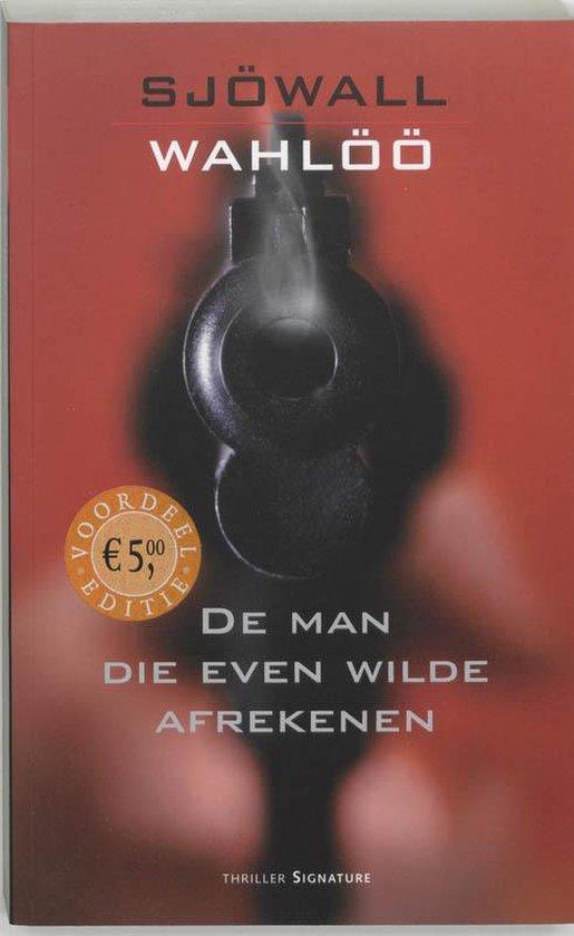 Cover van het boek 'De man die even wilde afrekenen' van Maj Sjowall en  Sjowall