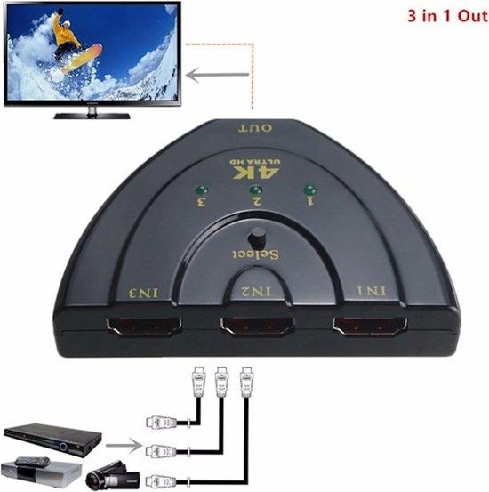 HDMI Switch 3 Poorts FULL HD 1.4 7 - 12 Dagen