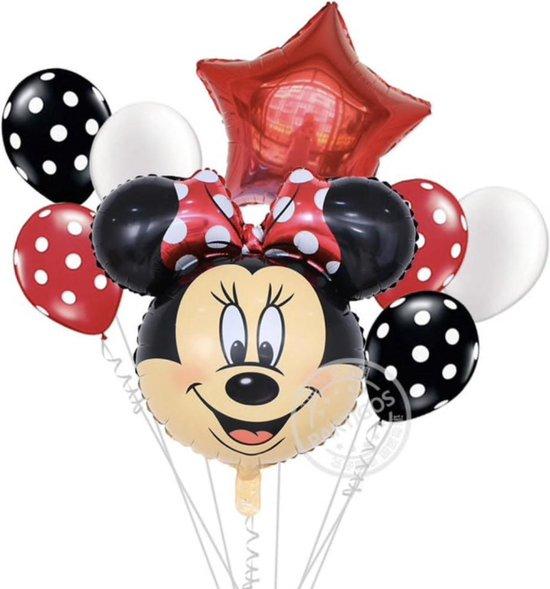 Disney Minnie Mouse Ballonnenset - Folieballonnen - Heliumballonnen - 8 Stuks - Feestdecoratie - Verjaardag - Feestje -Kinder verjaardag