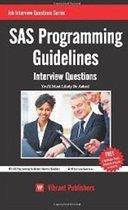 SAS Programming Guidelines