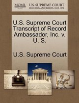 U.S. Supreme Court Transcript of Record Ambassador, Inc. V. U. S.