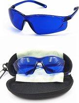 BG4U Professionele Golfbal Zoekende Bril - Blauw - met tasje