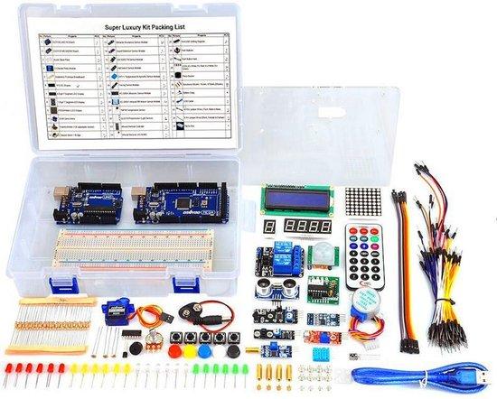 Deluxe Starter Kit Voor Arduino - Starters Set Met Uno R3 & Mega 2650 Boards