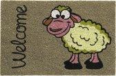 Kokosmat met print / Welcome sheep 406 / 40 cm x 60 cm /