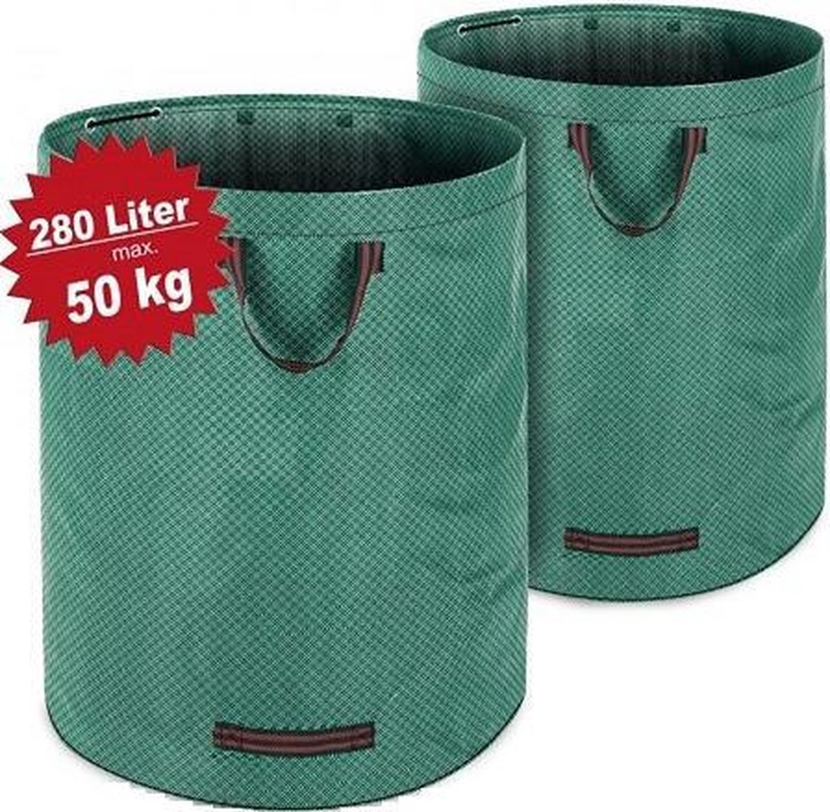 Tuin afvalzak - 2 stuks - 280 liter - 50 kg