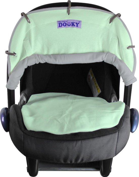 Dooky Universal Cover Zonnescherm Kinderwagen - Reversible Uni - Mint/Grey
