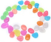 50x Leuke Pebbles aquarium stenen Glow in the dark | Multicolor | decoratie
